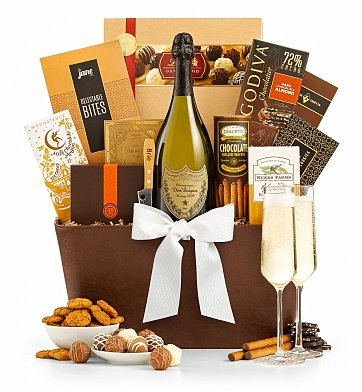 Champagne Gift Baskets: French Champagne Evening