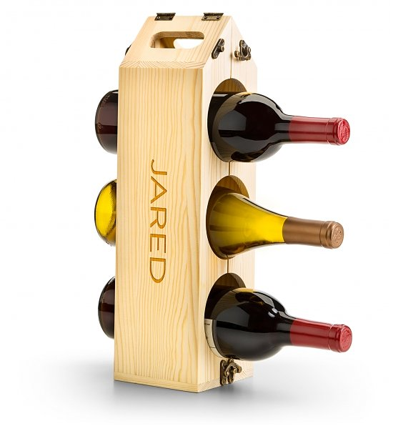 Wine Accessories & Decanters: Engraved Wine Rack and Carrier