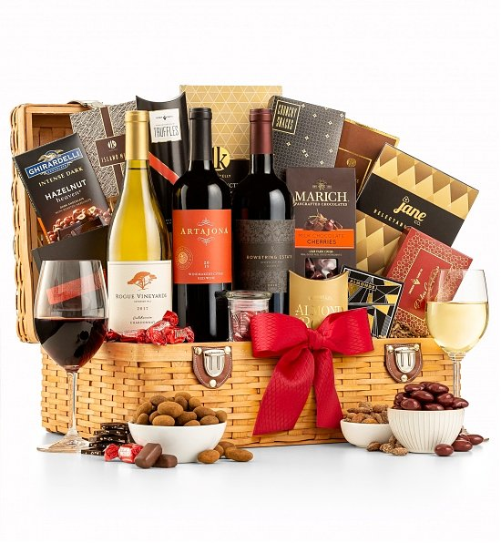 Wine Baskets: Coastal Countryside Wine Basket