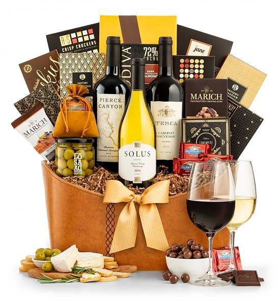 Wine Baskets: Winemaker's Estate Gift Basket