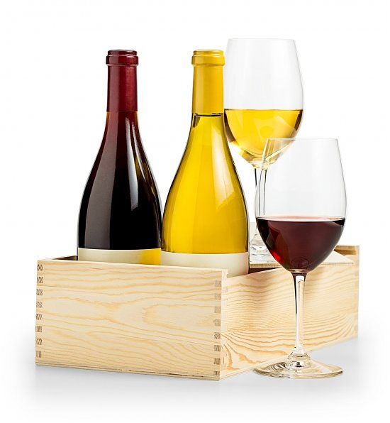 Wine Gift Crates: Sommelier's Red and White Selection