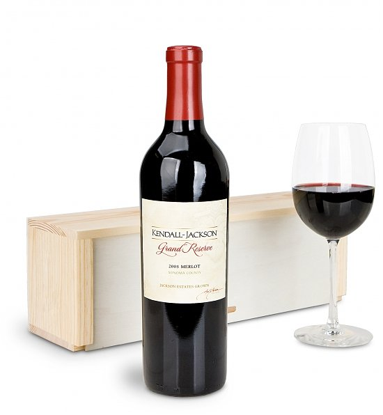 Wine Gift Crates: Kendall Jackson Grand Reserve Merlot