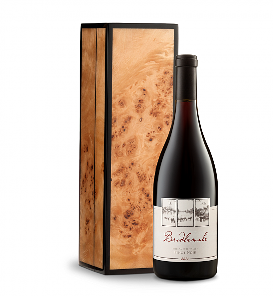 Wine Gift Boxes: Bridlemile Dundee Hills Pinot Noir with Burlwood Box