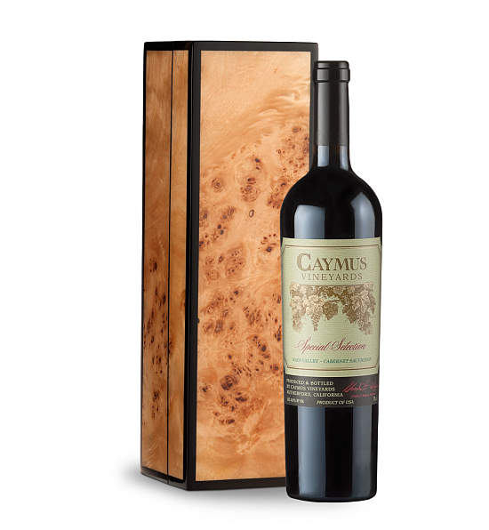 Wine Gift Boxes: Caymus Special Selection Cabernet Sauvignon 2016 in Handcrafted Burlwood Box