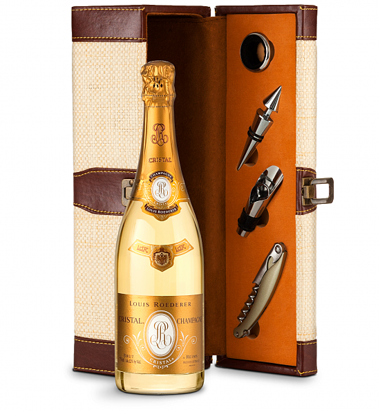 Wine Totes & Carriers: Louis Roederer Cristal Brut 2012 with Wine Steward Luxury Caddy