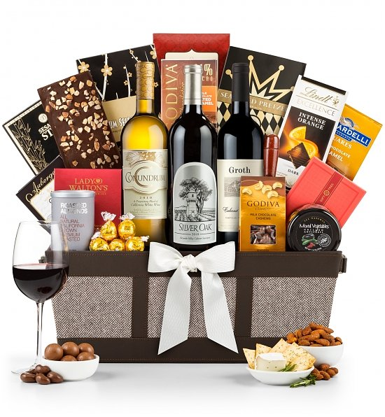Luxury Wine Baskets: Silver Oak Cabernet Basket