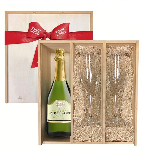Wine Gift Crates: Keepsake Champagne Toast Crate