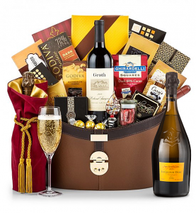 Ultimate Champagne Basket Featuring Groth Vineyards Cabernet Sauvignon