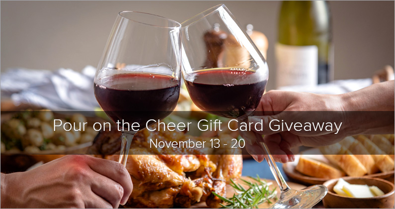 Pour on the Cheer Gift Card Giveaway